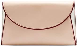 Diane von Furstenberg Foldover leather clutch