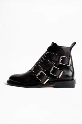 Zadig & Voltaire Zadig Voltaire Laureen Flap Studs Ankle Boots