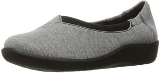 Clarks Women's CloudSteppers Sillian Jetay Flat, Pewter