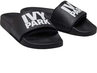 026b4e20bc65ef Ivy Park Womens Neo Lined Logo Sliders Black