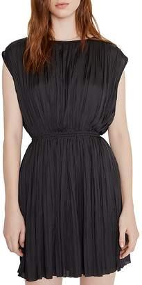 Anine Bing Giana Shirred Mini Dress