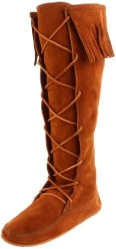 Minnetonka Women's 1429 Front Lace Knee-High Boot