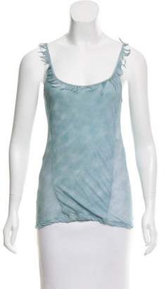 Nina Ricci Feather-Trimmed Sleeveless Top w/ Tags