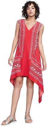 BCBGMAXAZRIA Alena Scarf Print Dress