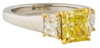 Michael Bondanza 2.05ct Fancy Intense Yellow Diamond Engagement Ring