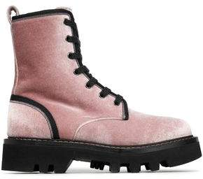 Brunello Cucinelli Lace-Up Embellished Leather Ankle Boots