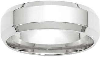 Wedding Bands USA 14KW 7mm Bevel Edge Comfort Fit Band Size 7