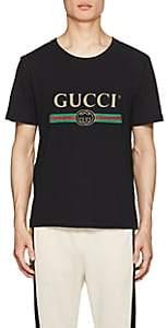 Gucci Men's Logo-Print Cotton Short-Sleeve T-Shirt - Black