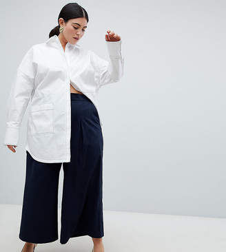 Asos Curve basketball pants with pleat detail