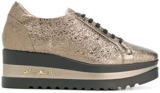 Baldinini metallic platform sneakers