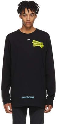 Off-White Black Long Sleeve Firetape T-Shirt