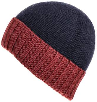 5d1334027fc Black Navy and Burgundy Cashmere Beanie
