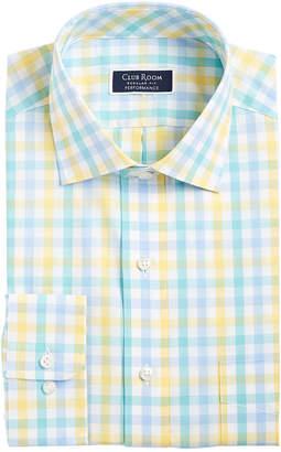 Club Room Men Slim-Fit Gingham Check Performance Dress Shirt