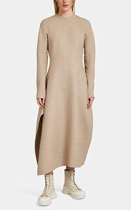 Jil Sander Women's Wool Flannel Long-Sleeve Dress - Beige, Tan