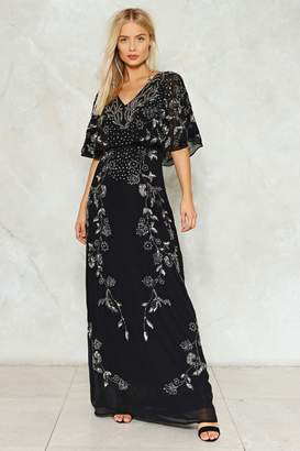 Nasty Gal Let It Bead Maxi Dress