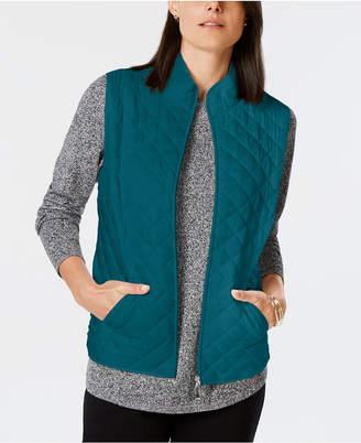 Karen Scott Quilted Puffer Vest