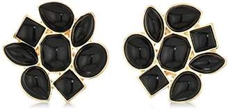 T Tahari Womens Marina Club Clip On Earrings With Stones