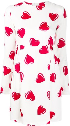 Moschino Pre-Owned 2000's heart printed mini dress