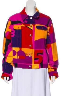 Iceberg Printed Button-Up Jacket