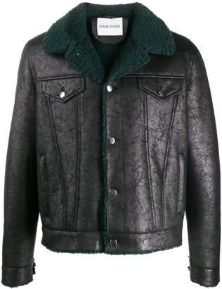 STAND STUDIO contrasting collar jacket