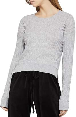 BCBGeneration Drop-Shoulder Rib-Knit Sweater