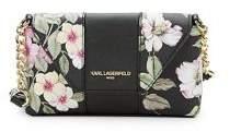Karl Lagerfeld Paris Paris Floral Leather Crossbody Bag