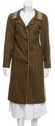 Prada Virgin Wool Embellished Coat
