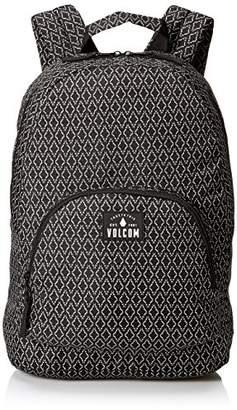 Volcom Schoolyard Poly Bkpk, Women's Backpack, Schwarz (Black Combo), 17x31x43 cm (B x H T)
