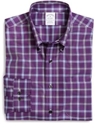Brooks Brothers Supima Cotton Non-Iron Slim Fit Windowpane Sport Shirt