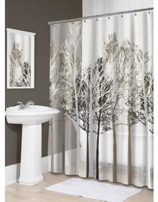 """BEIGE Splash Home Forest PEVA Shower Curtain, 72"""" x 70"""","""