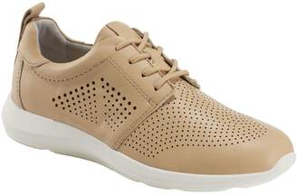 Earth Leather Lace-Up Sneakers - Desire Flux