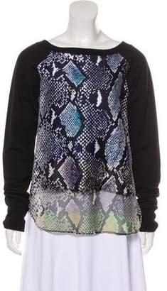 Diane von Furstenberg Lisha Animal Printed Sweatshirt