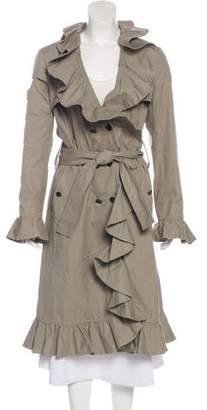 Dolce & Gabbana Ruffle-Accented Long Coat