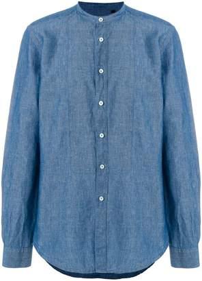 Dell'oglio round neck button shirt