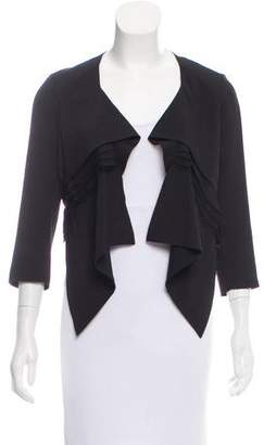 Robert Rodriguez Lace-Trimmed Cropped Blazer