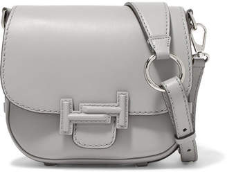 Tod's Double T Leather Shoulder Bag - White