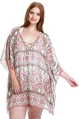 Becca Etc Women's Plus Size Granad Chiffon Tunic Cover up