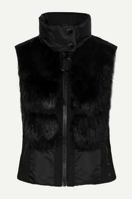 Goldbergh - Adda Faux Fur-paneled Quilted Down Vest - Black
