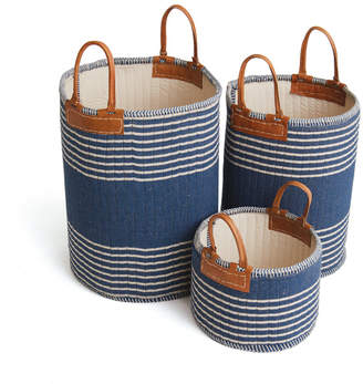 Lulu & Georgia Skipper Baskets, Navy (Set of 3)