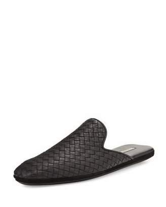 Bottega Veneta Leather Intrecciato Slip-On Shoe $560 thestylecure.com