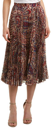 Haute Hippie Sunburst Flare Midi Skirt