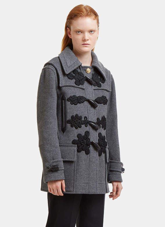 Morley Embellished Coat in Grey