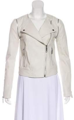 Rachel Zoe Zip-Up Leather Jacket