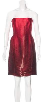 J. Mendel Strapless Jacquard Dress w/ Tags