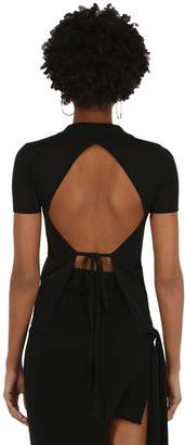 Jacquemus Knit Cotton Top W/ Back Cut Out