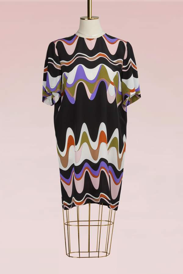 Emilio Pucci Crepe printed mini dress