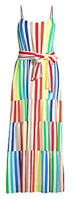 Alice + Olivia Women's Janan Striped Maxi Dress - Size 0