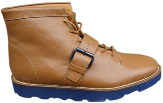 Opening Ceremony Beige Leather Boots