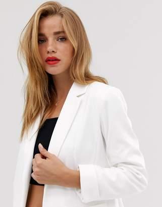 Miss Selfridge blazer in white