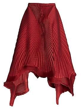 Issey Miyake Women's Pleated Petal A-Line Skirt